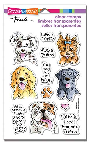 STAMPENDOUS CLEAR STAMPS STAMPND DOG KISSES, Rubber