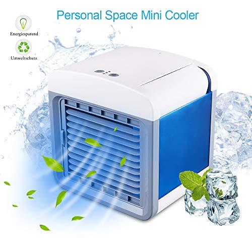 STLOVE Mobiler Klimagerät Mini-Klimaanlage mit USB-Port und 3-in-1 Funktion, Luftbefeuchter und Luftreiniger, Tischventilator für Büro, Hotel, Garage, Haus usw.