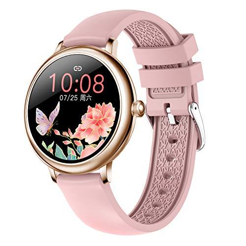 HQPCAHL Smartwatch Mujer, Reloj Inteligente Impermeable IP67, Pulsera de Actividad Inteligente con Monitor de Sueño Pulsómetro Podómetro Contador de Caloría para Android iOS,A