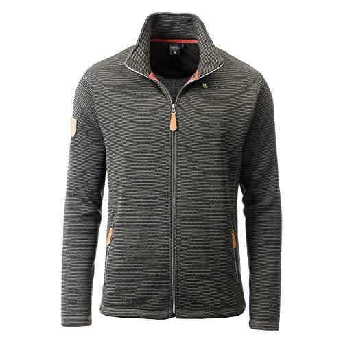 Linea Primero Strickfleece Strickjacke Strick Fleecejacke Outdoor Sweatshirt Herren LACEWOOD Men Farbe Olive, Größe 50