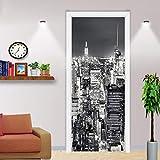Papel pintado 3d moderno murales de arquitectura urbana en blanco y negro sala de estar estudio puerta pegatina pvc papel tapiz impermeable autoadhesivo