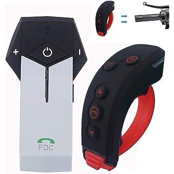 Radio FM Lettore MP3 1000m Impermeabile Collegare Fino a 3 Piloti Interfono Bluetooth Cancellazione del Rumore Casco Interfono LALEO Moto Auricolare Bluetooth Interfono Moto