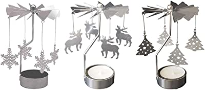 2 Deers Oranmay Spinning Rotary Carousel Tea Light Candle Holder Stand Light Gift Wedding Decor