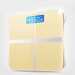 CS-YZC Electronic Health Scale Bathroom Scale Home Test Room Temperature Men And Women Weight Loss Products Display durable (Color : Pink) scales for body weight (Color : Yellow)