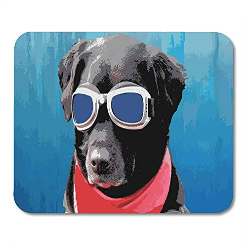 Muis Mat Huisdieren Cool Hond Zwart Lab Rode Bandana Blauwe Heup Mousepad Office Werk Gedrukt School Kleurrijke Muis Mat Game Antislip Speciale 25 X 30Cm