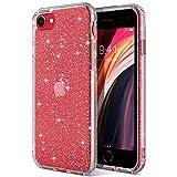 ULAK iPhone SE 2020 Case, Clear Glitter Soft TPU Bumper