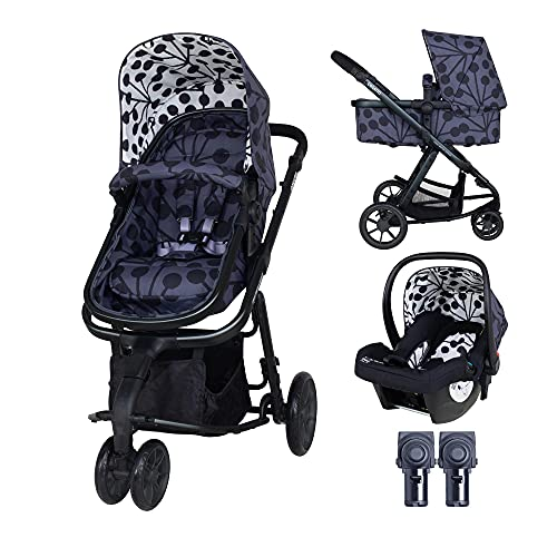 Cosatto Giggle 2 pram and Pushchair in Lunaria with car seat and raincover