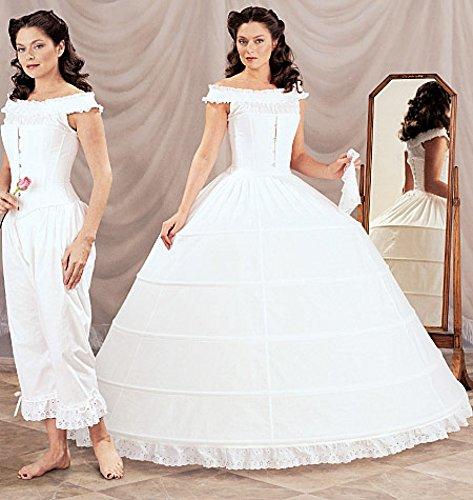 McCalls Cosplay Damen Schnittmuster 2001 Historische Camisole, Pantaloons, Korsett & Hoop Petticoat