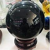 HSIOVE Esfera de obsidiana Negra Natural Piedra de Pelota de Cristal Grande +...