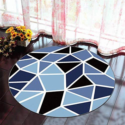 YAALO 3D Impresión Alfombra Redondo Alfombrillas Antideslizante Lavable Acogedor Felpudo Colchoneta De Yoga Alfombrilla De Interior-L-120cm