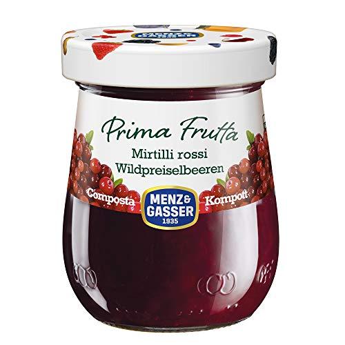 Menz&Gasser Composta di Mirtilli Rossi Prima Frutta, Prima Frutta, 1 Vaso x 300 g