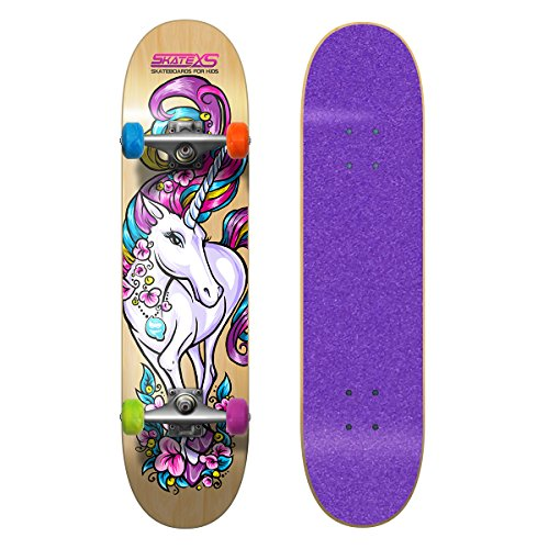 Best Price! SkateXS Beginner Unicorn Girls Skateboard