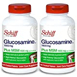 Schiff Glucosamine 1500mg Plus MSM and Hyaluronic Acid, 150 Tablets - Joint Supplement (Pack of 2)