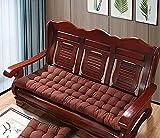 XCTLZG Cojín de banco de 8 cm de grosor, práctico cojín de asiento con correa antideslizante, cómodo y bonito cojín para silla de 2 a 3 plazas