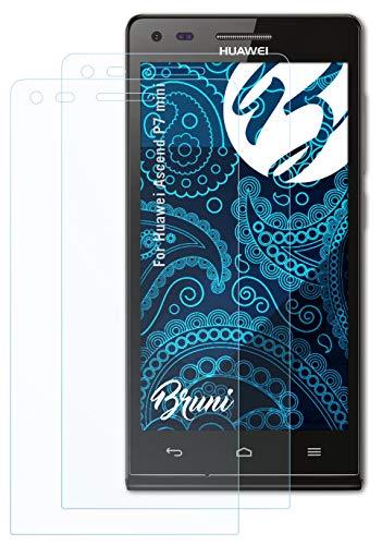 Bruni Schutzfolie kompatibel mit Huawei Ascend P7 Mini Folie, glasklare Bildschirmschutzfolie (2X)