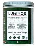 Luminos Cold - LUM1152 - MUSGO - Lasur Bio al Agua Protector Para Madera Exterior Reflectante IR - Verde Musgo 2.5L