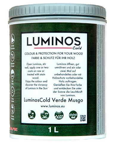 Luminos Cold - LUM1152 - MUSGO - Lasur Bio al Agua Protector Para Madera Exterior Reflectante IR - Verde Musgo 1L