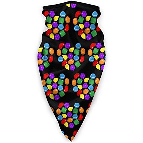 NA Candy Crush Saga Bandana Hals Warmer sjaal winddicht bivakmuts stof wind gezichtsmasker voor outdoor-activiteiten