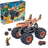 Mega Construx Monster Trucks Tiger Shark Coche de juguete de bloques de construcción, incluye figura, para niños +5 años (Mattel GVM26)