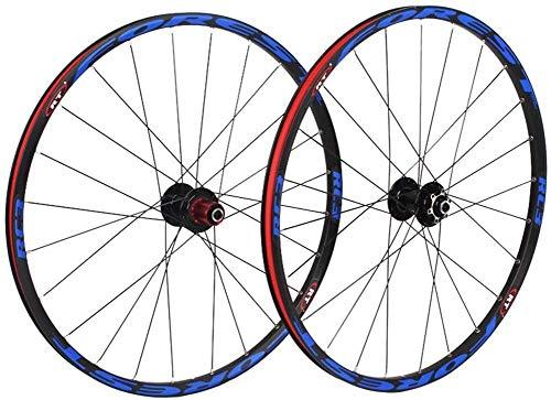 GDD Roues de vélo Roues Vélo Course Vélo Jantes Set, 26 Pouces Double paroi VTT Rim arrière Roue Avant Roue Quick Release VTT Wheelset Frein à Disque Palin Roulement 8/9/10 Vitesse (Color : 26in)