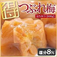 E&F 訳あり 和歌山県産 紀州南高梅つぶれはちみつ梅 塩分8% 400g 国産