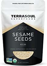 Terrasoul Superfoods Organic Hulled Sesame Seeds, 2 Lbs - Perfect for Tahini | Gluten-free | Raw