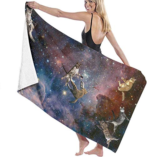 Galaxy Stars Wars Gatos Toalla de Playa Personalidad Piscina Toalla de baño de Gran tamaño 130x80 cm