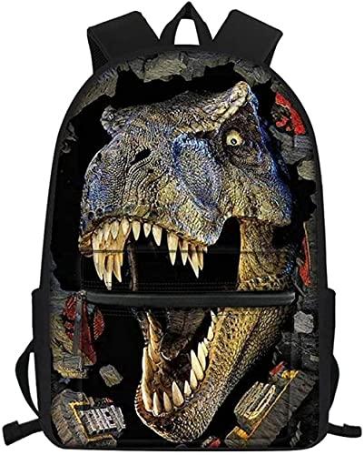 YuMeng Bolso de la escuela de la impresión del dinosaurio 3D Mochila Bolsa de la escuela de los niños-B-1_13 pulgadas