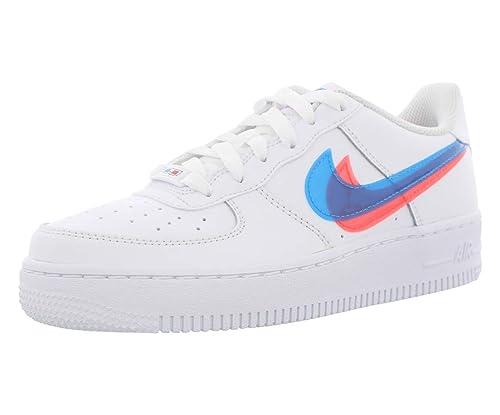 Nike Air Force 1 Lv8 Ksa Gs (White/Blue Hero-Bright Crimson 4.5Y ...