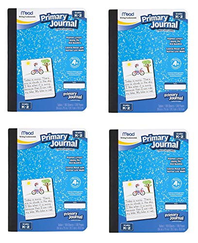 Mead Primary Journal Creative Story Tablet, Grades K-2, Kindergarten 2nd Grade Workbook, Sold as 4 Pack
