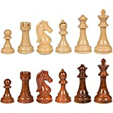Nero High Polymer Extra Heavy Weighted Chess Pieces with 4.25 Inch King and Extra Queens, Pieces Only, No Board