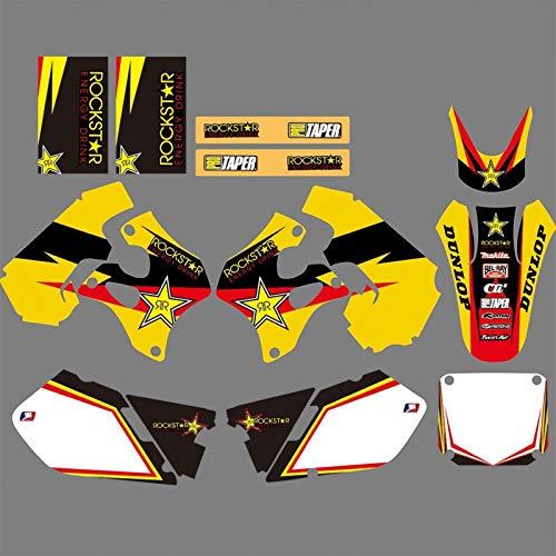Adhesivo de Motocross Modificado para Suzuki rm125 rm250 RM 125 250 1996 1997 1998 Equipo de Motocicletas Fondo gráfico calcomanía Pegatinas Kit