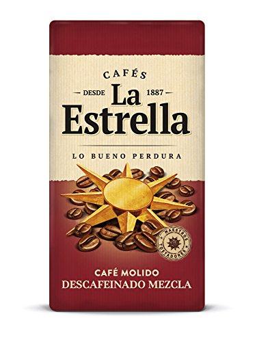La Estrella Café Molido de Tueste Natural 50% y Torrefacto 50% Descafeinado, 250g