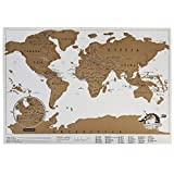 Poster del mapa del mundo para rascar 30 x 42. Incluye tubo y rascador de regalo - World Scratch Map - Poster de lujo - Edicion para viajes. (30 x 42 cm)