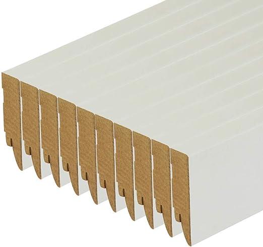 Sockelleiste wei/ß MDF Modern Cube 19 x70 x 2500 mm