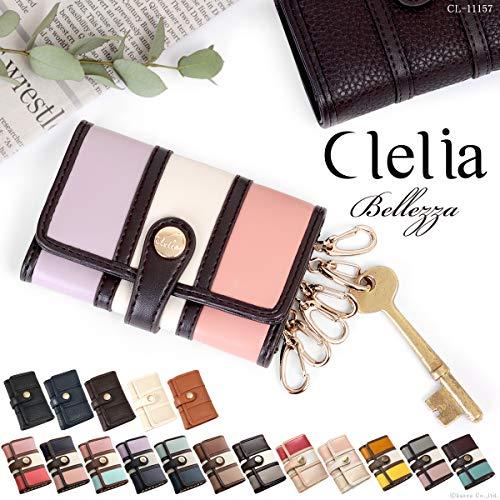 Cleliaクレリアキーケースレディースマルチカラー6連キーフックBellezza【CL-11157】(ローズグレー)