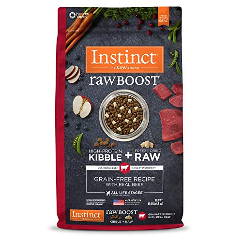 Nature's Variety Instinct Raw Boost Grain Free Recipe with Real Beef Natural Dry Dog Food by, 10 lb. Bag