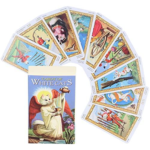 78 Jeux de Cartes de Tarot, Carte de Divination du Destin, Papier D'Emballage Jeu de SociéTé Tarot Deck Jouet RéVéLateur de Bonne Aventure Jouet de Jeu Interactif pour les DéButants