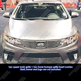 APS Compatible with 2010-2013 Kia Forte Koup Billet Grille Grill Combo Insert S18-A15016K