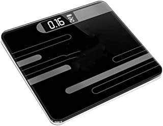 SHHDD Smart Bathroom Scale Bathroom Floor Body Scale Glass Intelligent Electronic Scale USB Charging LCD Display Portable ...