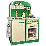 Kinderküche, Sun, Spielküche aus Holz, grün