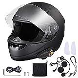 AHR Run-B Bluetooth Motorcycle Full Face Helmet Wireless Headset Helmet with Wireless Headset Intercom MP3 FM DOT