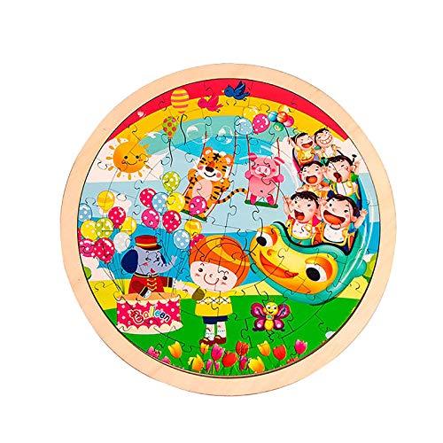 Lernpuzzle FüR Kinder 64-Teiliges Eltern-Kind-Spielzeug FüR Die FrüHe Bildung, Baustein-Puzzles, Zusammenstellen Von Lernspielzeug FüR Spiele