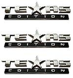 Muzzys (SET OF THREE) Texas Edition 3M Stick On Emblem Badge FITS GMC Sierra Chevy Silverado Suburban Tahoe Ford F150 Dodge Ram Nissan Titan Truck