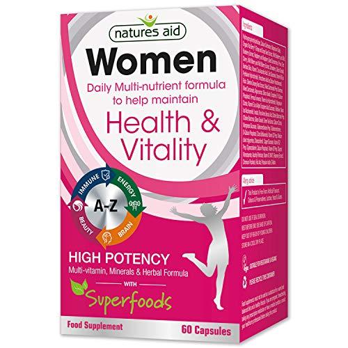 Natures Aid multivitaminas y minerales Cápsulas para mujer - Pack con 60