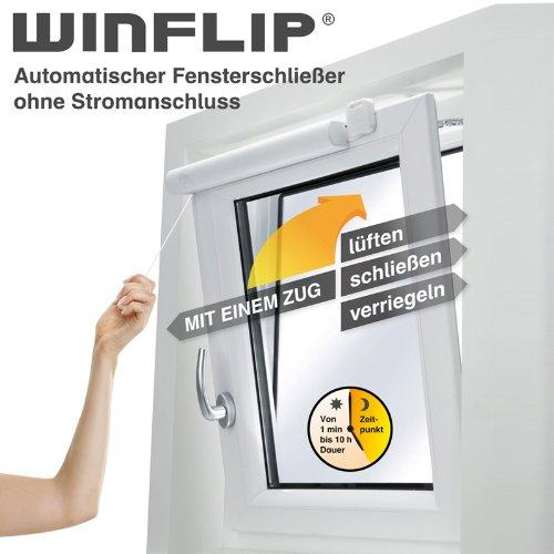 WINFLIP Fensterschließer Digital - automatischer Fensterschließer ohne Stromanschluss