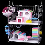 DuvinDD 2-Story Hamster Cages with Crossover Tubes...