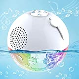Floating Bluetooth Speaker, FirstE Portable Wireless Speaker LED Light Show, Dual Bass Drivers