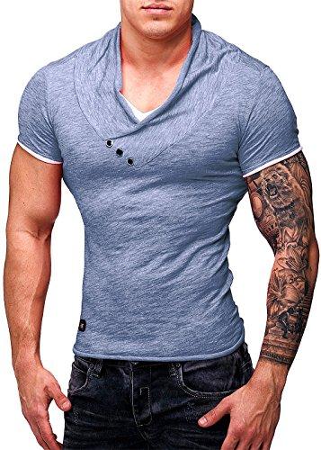 Red Bridge Disco Dope Streetwear Swag Cipo Baxx–Camiseta de manga corta para hombre añil M