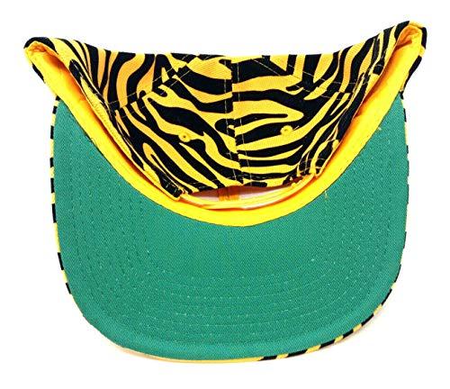 Crown Orange & Black Striped Tiger Print Snapback